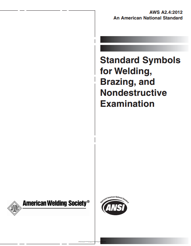 Aws A24 Standard Symbols For Welding Brazing And Nondestructive