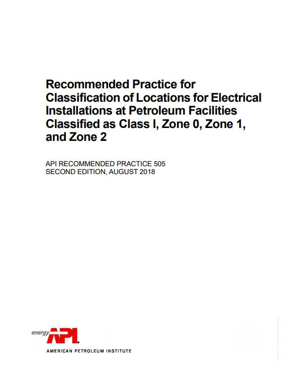 API RP 505 : Recommended Practice for Classification of