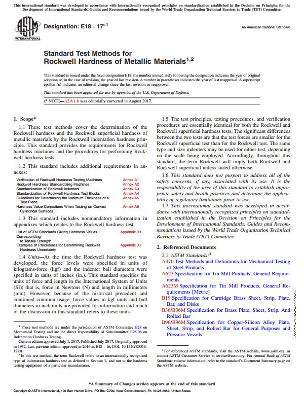 rockwell hardness test procedure pdf