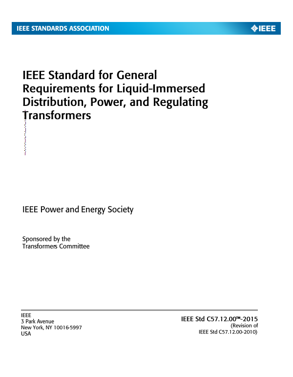 Ieee C571200 General Requirements For Liquid Immersed
