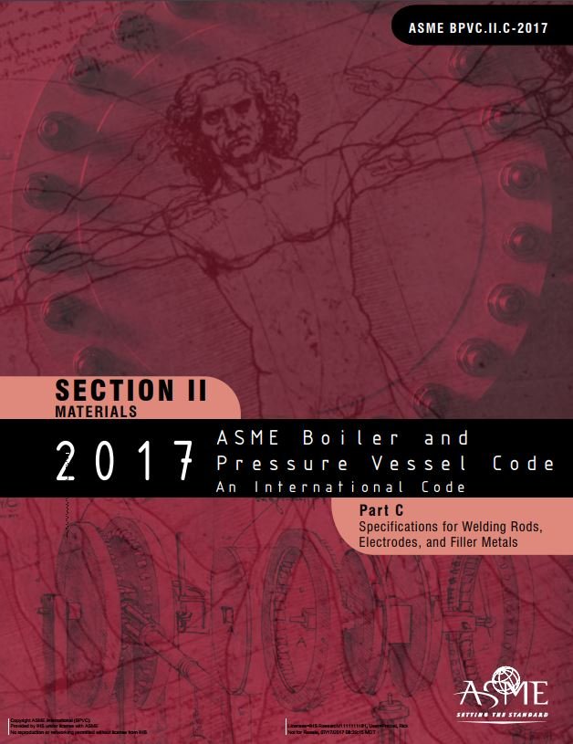 Asme Bpvc Ii C Section Ii C Specifications For Welding