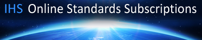 IHS Online Standards Subscriptions